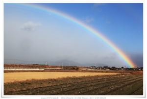 Rainbow   津市で見た虹 2010/12/23