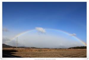 津市で見た素晴らしい虹